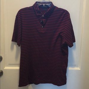 Men's Polo Navy and Red